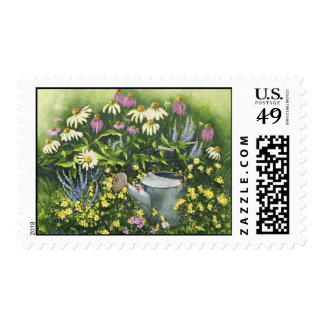 0530 Cone Flowers & Watering Can Postage