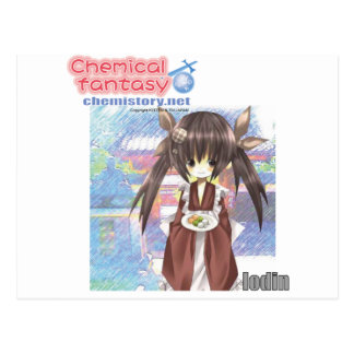 053 Iodin of Chemical fantasy Postcard