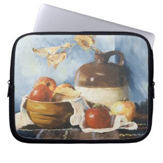 0541 Apples & Crockery on Quilt Laptop Sleeve