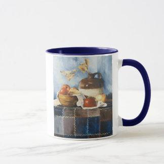 0541 Apples & Crockery on Quilt Mug