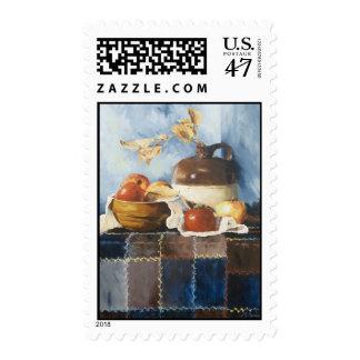 0541 Apples & Crockery on Quilt Postage