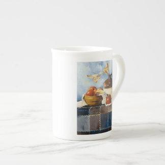 0541 Apples & Crockery on Quilt Tea Cup