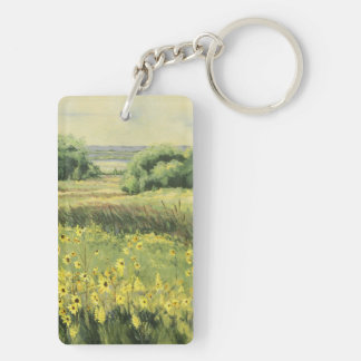 0545 Landscape with Sunflowers Keychain