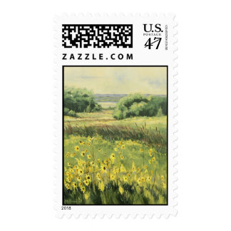 0545 Landscape with Sunflowers Postage