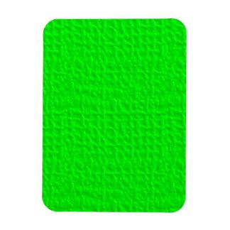 057 NEON GREEN YELLOW FUN WAFFLE TEXTURE TEMPLATE MAGNET