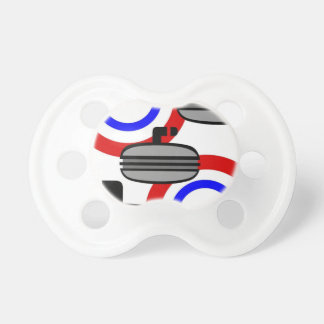 059 CURLING SPORTS BLACK RED ROYAL BLUE WHITE RECR PACIFIERS