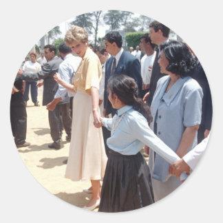 059 princesa Diana Egipto 1992 Pegatina Redonda