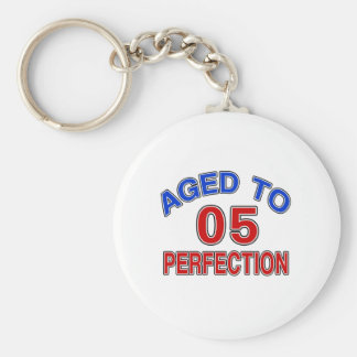 05 Aged To Perfection Basic Round Button Keychain