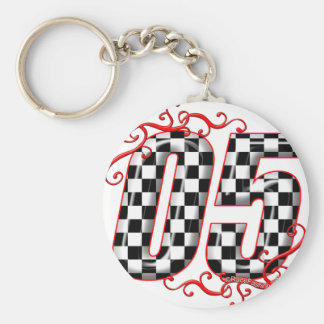05 auto racing number keychain