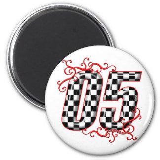 05 auto racing number fridge magnet