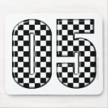 05 auto racing number mouse pad