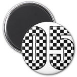 05 auto racing number refrigerator magnets