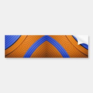 05 Blue & Orange Bumper Sticker Car Bumper Sticker