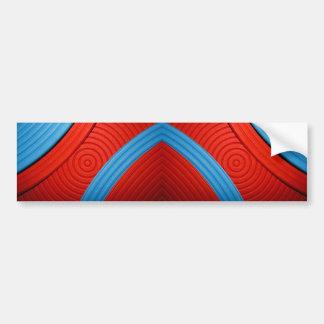 05 Blue & Red Bumper Sticker Car Bumper Sticker