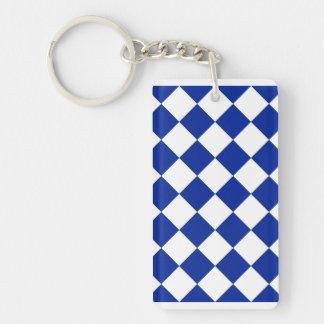 05 - Diag a cuadros - azul blanco e imperial Llaveros