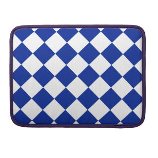 05 - Diag Checkered - White and Imperial Blue MacBook Pro Sleeve