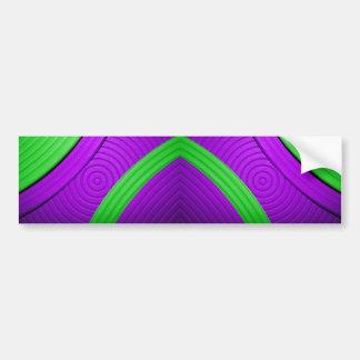 05 Green & Purple Bumper Sticker Car Bumper Sticker