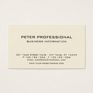 05 Modern Professional Business Card ivory cream