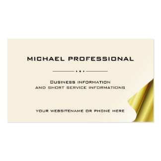05 Modern Professional Business Card ivory gold