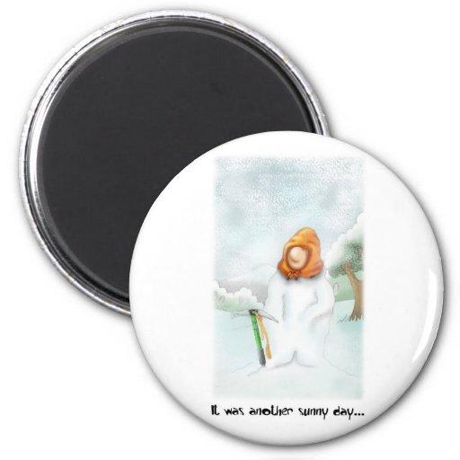 05. Muñeco de nieve Iman De Nevera