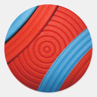 05 pegatina azul y rojo
