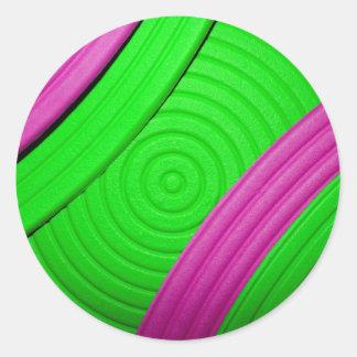 05 Pink & Green Sticker