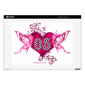05 race number butterflies decals for laptops