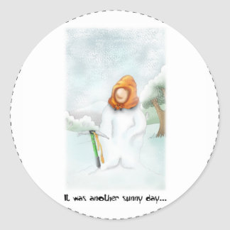 05. Snowman Classic Round Sticker