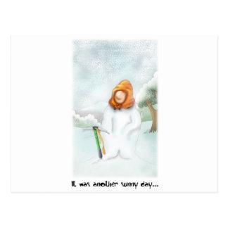 05. Snowman Postcard
