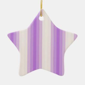 05e - LilaStripe.png Double-Sided Star Ceramic Christmas Ornament