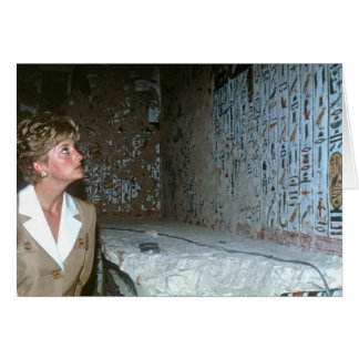 060 Princess Diana Egypt 1992 Greeting Cards