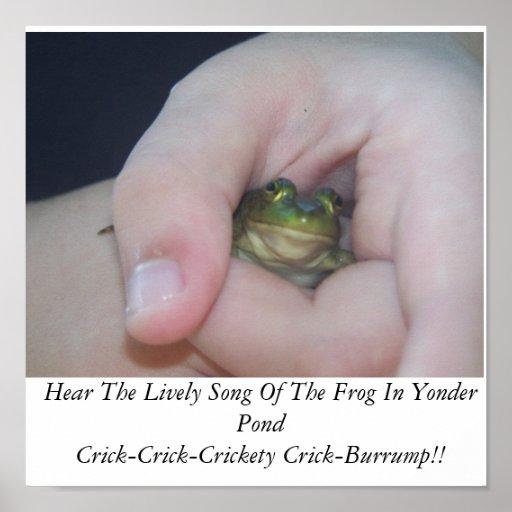 064, oyen la canción animada de la rana en allí a  póster
