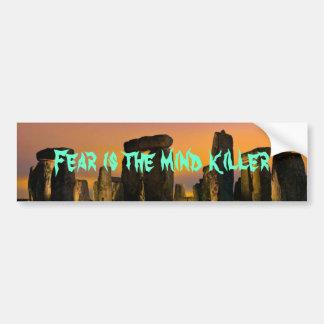 065, Fear is the mind killer Car Bumper Sticker