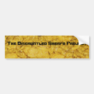 065, The Disgruntled Sherpa Project Car Bumper Sticker