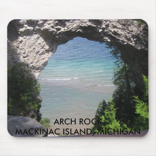 068, ARCH ROCKMACKINAC ISLAND, MICHIGAN MOUSE PAD