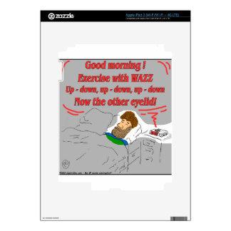 069-Eye lid exercise cartoon Skins For iPad 3