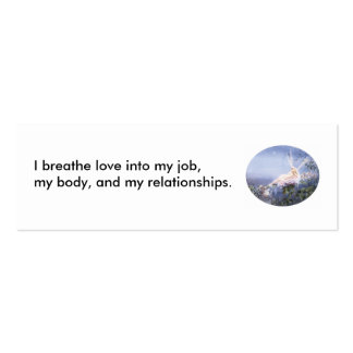 069, I breathe love into my job, my body, and m... Double-Sided Mini Business Cards (Pack Of 20)