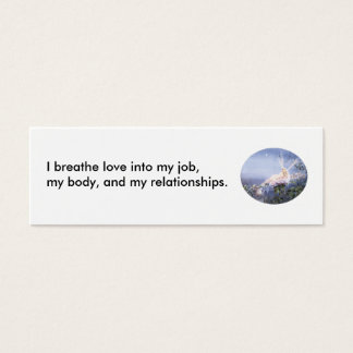 069, I breathe love into my job, my body, and m... Mini Business Card