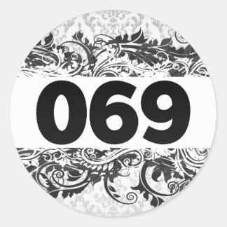 069 PEGATINA REDONDA