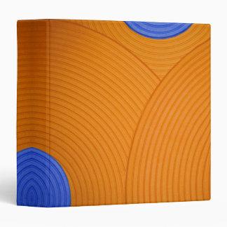 "06 Blue & Orange Circles 1.5"" Avery Binder Vinyl Binders"