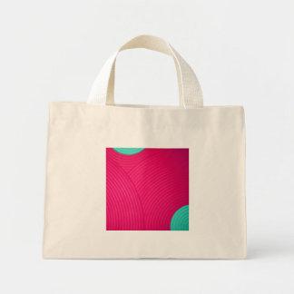 06 bolso azul y rosado de los círculos bolsa
