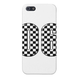 06 checkered auto racing number iPhone SE/5/5s cover