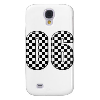 06 checkered auto racing number samsung galaxy s4 case