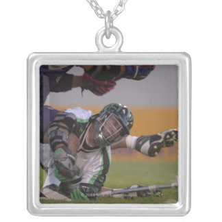 06 Jul 2001:   Casey Powell #22  Long Silver Plated Necklace
