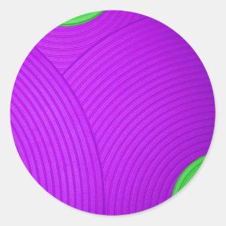 06 pegatina verde y púrpura