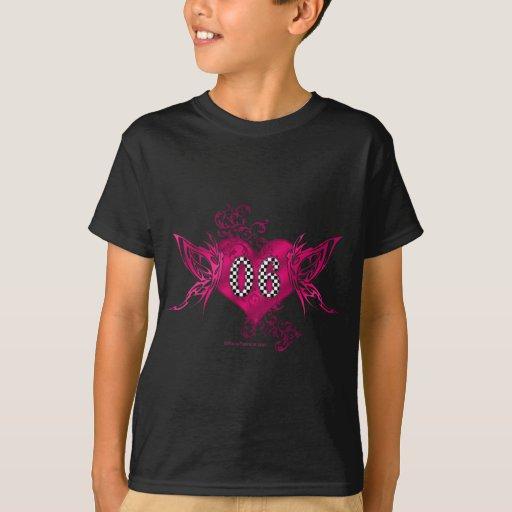 06 race number butterflies T-Shirt