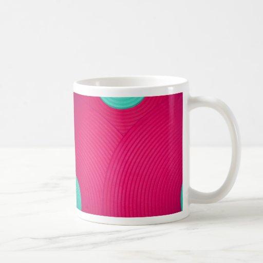 06 taza azul y rosada de los círculos