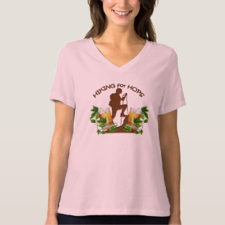 (06)The Hiking for Hops Womans V Neck Tee