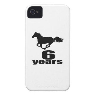 06 Years Birthday Designs iPhone 4 Cover