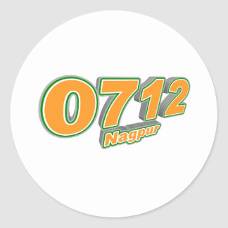 0712 Nagpur Pegatina Redonda